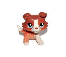 Littlest Pet Shop Animal Brown Red White Puppy Collie Dog Doll Figure Child Toy