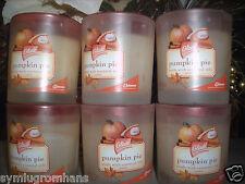 6 Glade Jar Glass Scented Candles PUMPKIN PIE 4 oz each Candle RARE