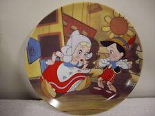 """Disney Pinocchio """"I've Got No Strings"""" 8 1/2"""" Porcelain Plate Excellenet Cond"""