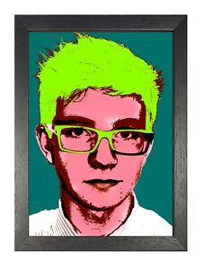 Andy Warhol - Man In Glasses American Artist Expression Celebrity Poster Pop