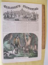 Vintage Print,WOODCOCK SHOOTING,Gleasons,Sept 1853