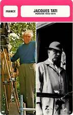 FICHE CINEMA :  JACQUES TATI 1932-1974 -  France (Biographie/Filmographie)