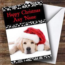 Triste Perro Navidad tarjeta de saludos personalizadas