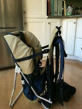 """Backpack child carrier: """"The Stallion�. Deluxe well-padded. Barely used."""