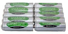 10 x AA 1.2V 600mAh Rechargeable Solar light batteries NiMH Garden LSD INSTANCE