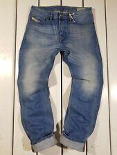 New Diesel Men's Jeans W28 L30 Waykee 0826A Regular Straight Blue Denim