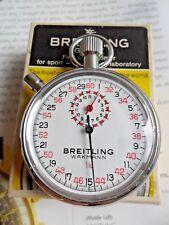 VC Vintage 1970's Breitling Wakmann B.1318 Sports Timer Stop Swiss Watch w/ Box