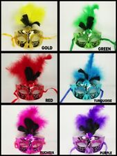 Economical Metallic Feathered Plastic GLITTER MASK Choose Color Wholesale