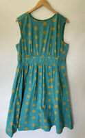 EMILY and FIN amazing A Line Polka Dot Fit & Flare Dress Size XXL 16 +