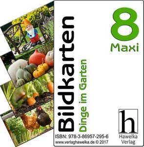 Bildkarten 8 -Maxi- Dinge im Garten - (extra große Fotokarten)