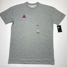 Nike ACG All Conditions Gear Heather Gray T-shirt Ao4643 063 Mens Size Medium