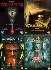 WISHMASTER QUADRILOGY PART 1 2 3 4 DVD COMPLETE COLLECTION MOVIE FILM New UK R2