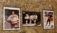 (3) Pavel Bure 1990-91 Upper Deck Rookie 1992-93 SP HOF card lot Young Guns