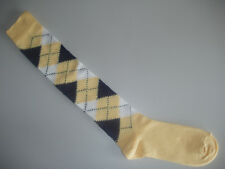 🇬🇧 XL Size 10 -12 Plus Fours Extra Long Men's Argyle Golf/Golfing Socks Yellow
