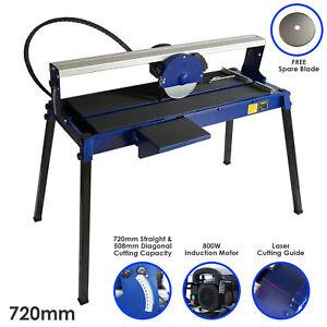 Wet Tile Cutter Bench Table Saw Stand Frame Cut Diamond Blade Bridge 720mm 800W