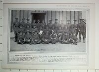 1915 WWI WW1 PRINT OFFICERS OF SOUTH AFRICAN CONTINGENTS HEAVY ARTILLERY NAMED