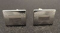 Vintage Silver Tone Swank Mens Cuff Links