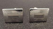 Vintage Silver Tone Swank Mens Cuff Links