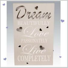 Dream light up led plaque murale suspendu signe papillon design