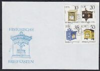DDR FDC 2924 - 2927 4er Block mit SST Berlin Briefkästen 1985, first day cover