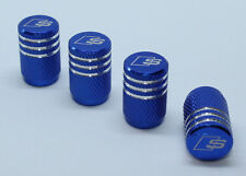 4x Valve Cap for AUDI Aluminium Dust Caps for S Line Brand New Blue Check