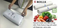 4 vacum bag rolls + Fresh World Vacuum Sealer Saver - Food Saver +4M inside.