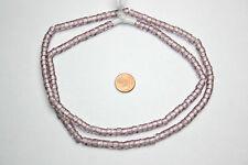 Böhmische Glasperlen Strang 70 cm russisch facettiert Amethyst Flieder 6 mm