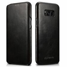 Zanasta Echt Leder Tasche für Samsung Galaxy S8 - Flip Case Schutz Hülle Etui SW