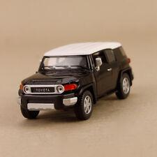 2010 Toyota FJ Cruiser Model Car Black 1:36 12cm Pull-Back Die-Cast Doors Open