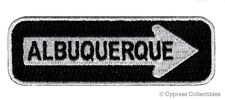 ALBUQUERQUE ONE-WAY SIGN EMBROIDERED IRON-ON PATCH applique NEW MEXICO ROAD