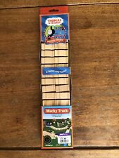 Authentic Learning Curve Wooden Thomas Train 2 Pieces 14 Inch Wacky Track! New