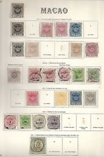Macao 1884 collection of 24 Classic stamps High Value!