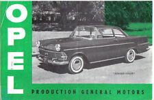Opel 1200 Rekord Kapitan 1962 Original FRENCH Sales Brochure