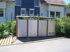 Bankirai, Mülltonnenbox Edelstahl NEU, Müllbox, 2x2, Edelstahlbox, Lochblech