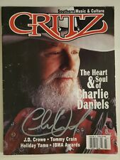 1 OF THE NICEST Charlie Daniels Augraphed Items ANYWHERE! Signed Gritz Magazine