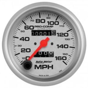 "Auto Meter 4493 3-3/8"" Ultra-Lite Mechanical Speedometer; 0-160 MPH"