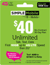 3 MONTH SIMPLE MOBILE $40 PLAN - 90 Days Preloaded with $40 Plan ($150 Value)