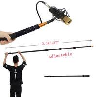 3.5M/137'' Aluminum Alloy Boom Pole Microphone Telescoping Lightweight Rob Pole