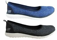NEW SKECHERS MICROBURST HYPED UP WOMENS COMFORTABLE MEMORY FOAM FLATS