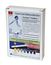 Vaginal pH Ecocare Comfort Wattestäbchen 5 Tests einzeln verpackt + 2 One+Step