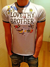 """Authentic DSQUARED T-shirt """"LOVE THY BROTHER"""" 71XM520 Tag.L"""