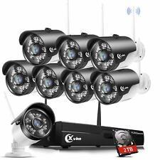 Xvim Wireless Security Camera System 1080P Night Vision Ip Camera Nvr Kit 2Tb