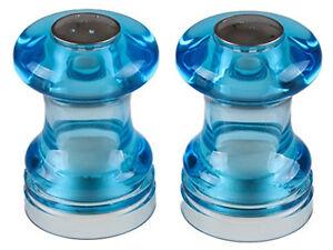 """Stylish Salt & Pepper Shaker Set Clear Blue - 2.75"""" Tall, NEW"""
