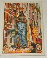Image CHROMO COTE D'OR Collection FOLKLORE BELGE N°18 : ST-NICOLAS LIEGE Vierge