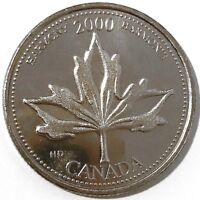 2000 Canada Millennium Series June - Harmony 25 Cents Gem BU UNC Quarter!!