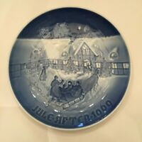 Bing & Grondahl Arrival Of Christmas Guest Christmas Collector Plate 1969