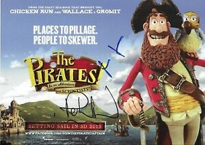 Hugh Grant/Peter Lord Signed The Pirates 12x8 Photo AFTAL