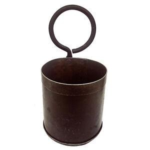 Vintage Behälter aus Recyclingeisen Patina Thali / Reis Topf Blumentopf Eisen
