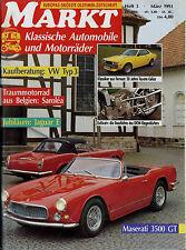 Markt 3/91 1991 DAAG Maserati 3500 GT Toyota Celica VW Typ 3 Jaguar E-Type Buick