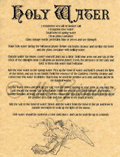 Holy Water, Book of Shadows Spell Page, Wicca, Witchcraft, like Charmed